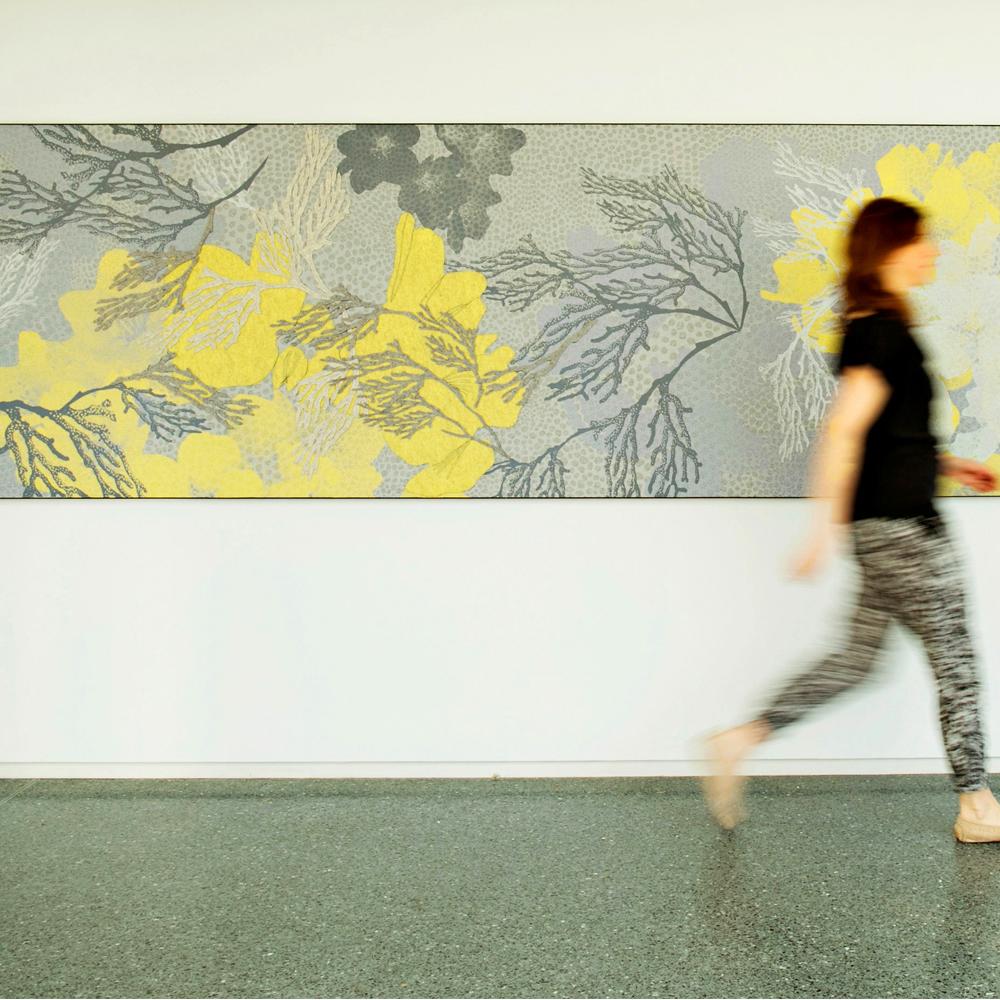 Custom Felt Mural @ Yellow Magnolia Café at Brooklyn Botanic Garden