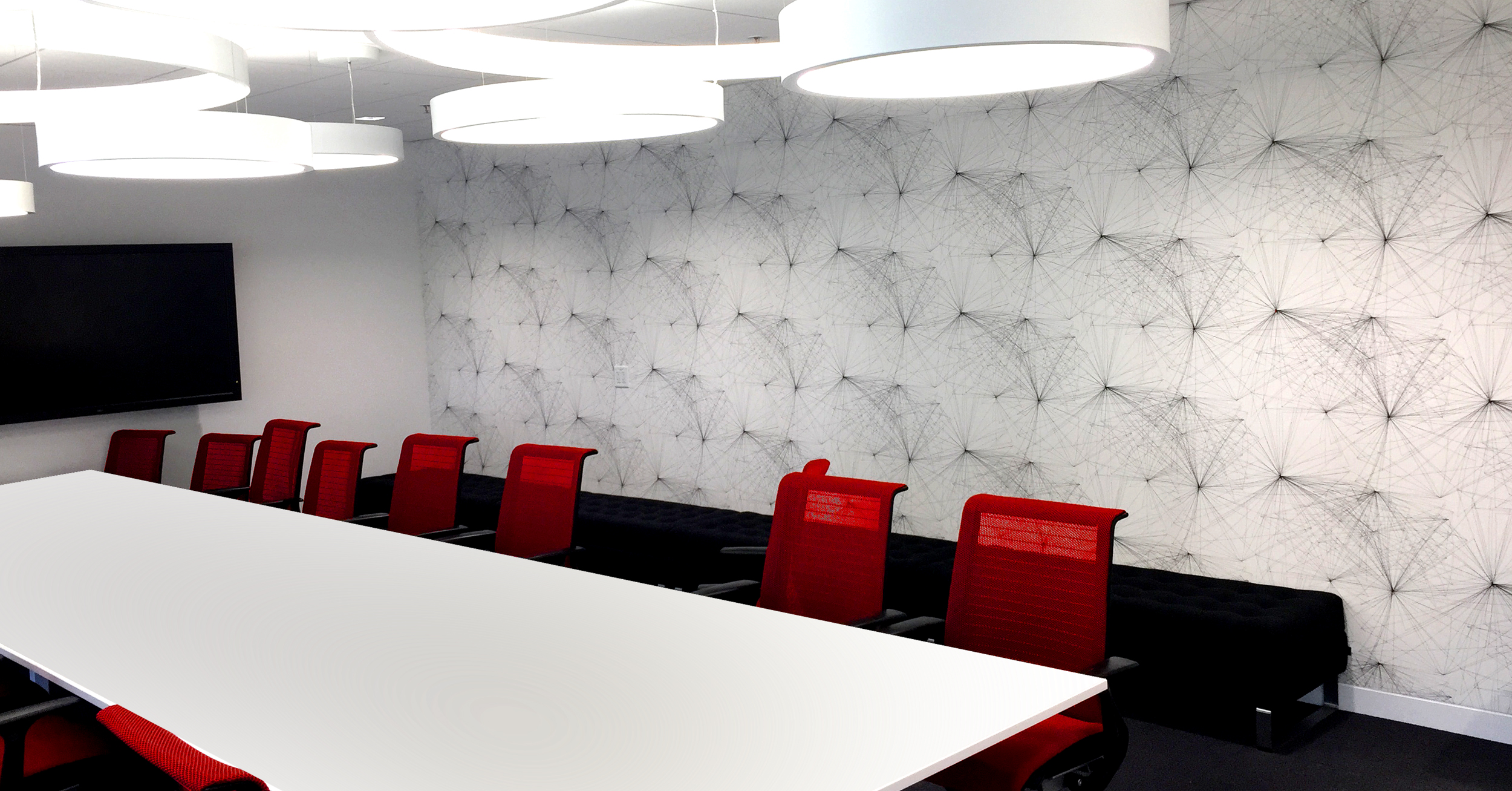 VOYAGEUR WALLCOVERING IN THE YOUTUBE FLAGSHIP OFFICE IN LOS ANGELES, CALIFORNIA