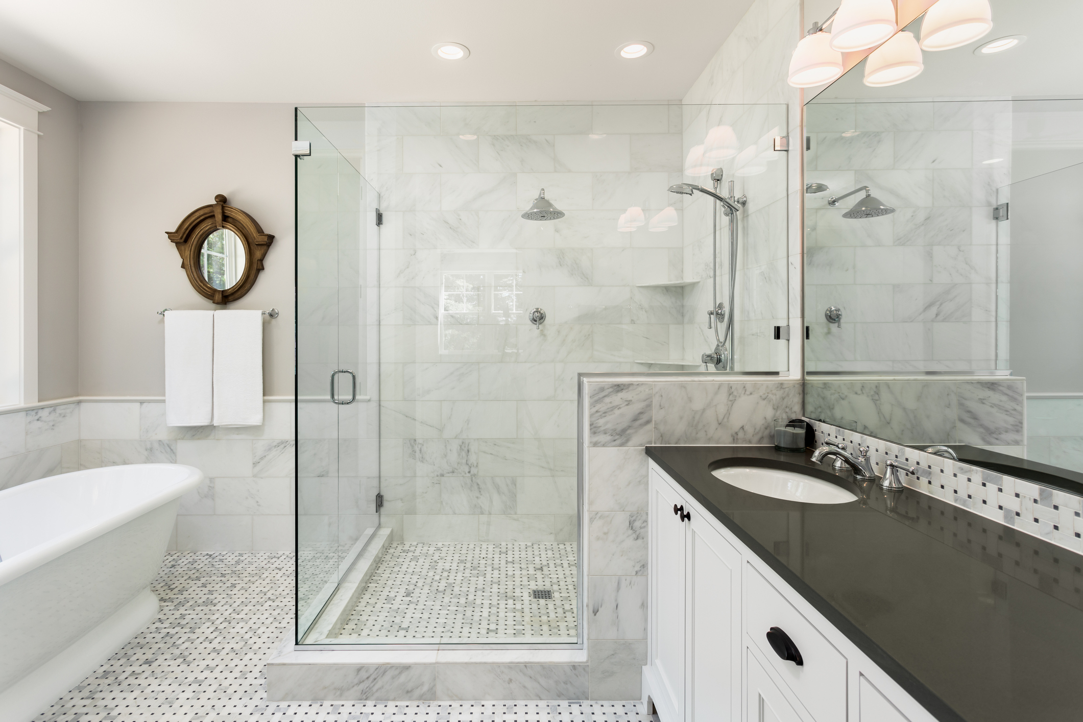 Master Shower and Mirror