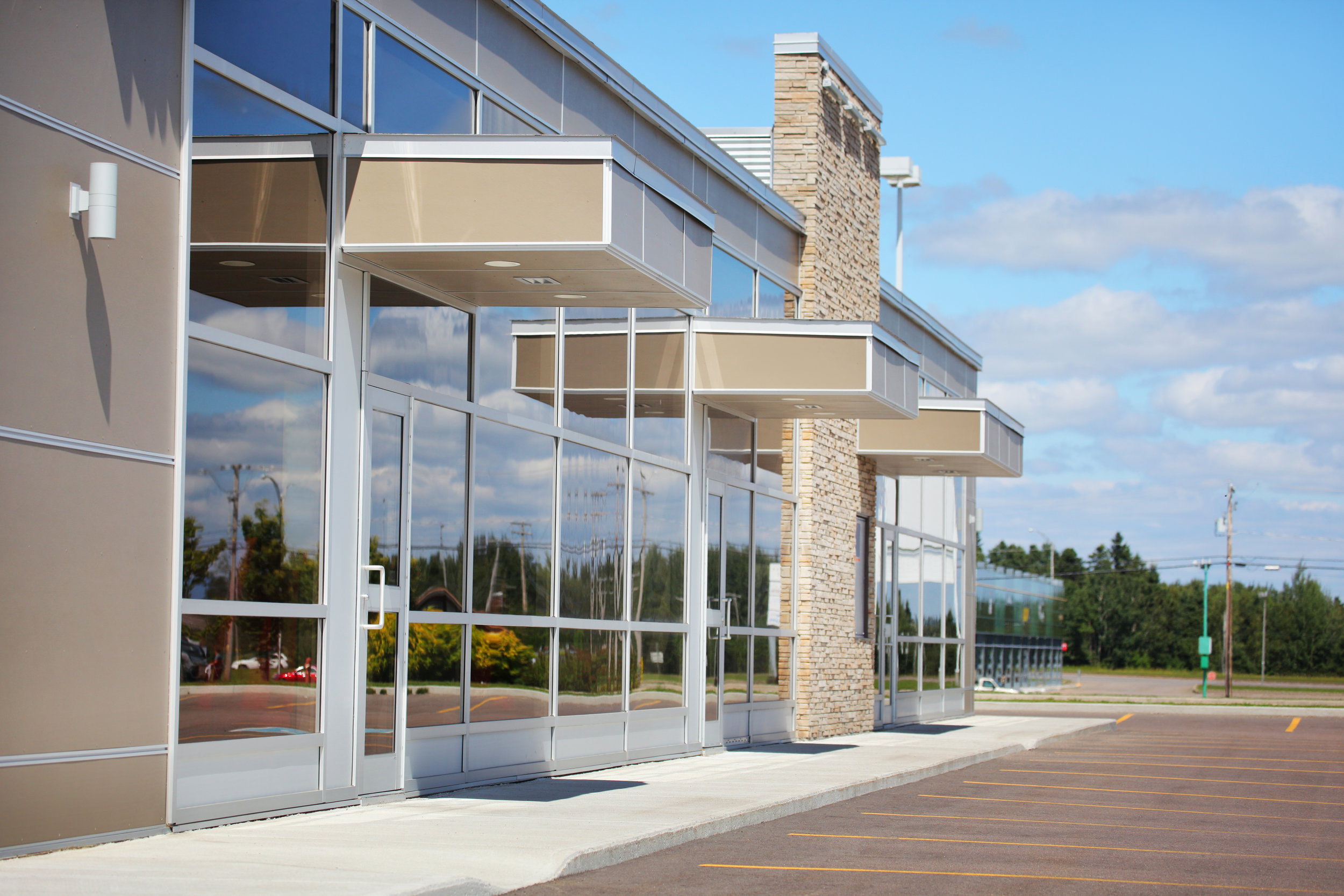 Exterior Glass Walls & Doors