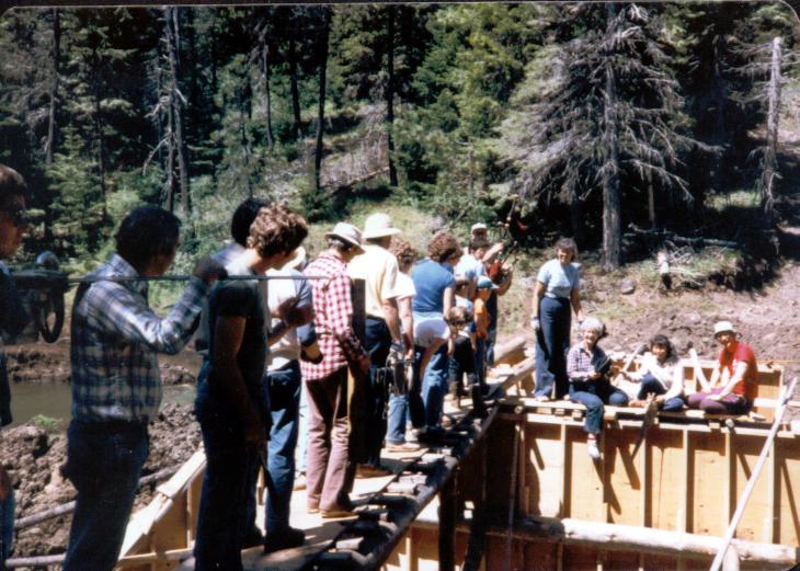 permanent spillway built 1982 by the John Knox Presbyterian Church.jpg
