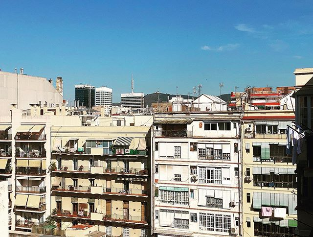 Barcelona #buildings #barcelona #morning #summer #balconybcn #plazaespanya #bcn #rooftop