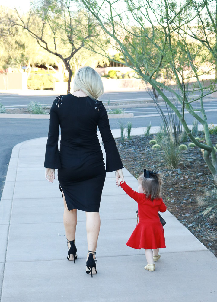 Black Bardot Nordstrom Lace Up Side Slit Dress Live Love Blank The Perfect Little Black Dress Louis Vuitton Mommy and Daughter