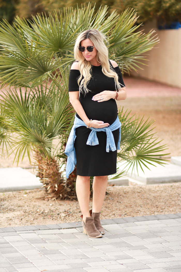 Live Love Blank Staple Black Maternity Dresses Asos Pregnancy Week Update 36 Feeling Huge and Super Preggo