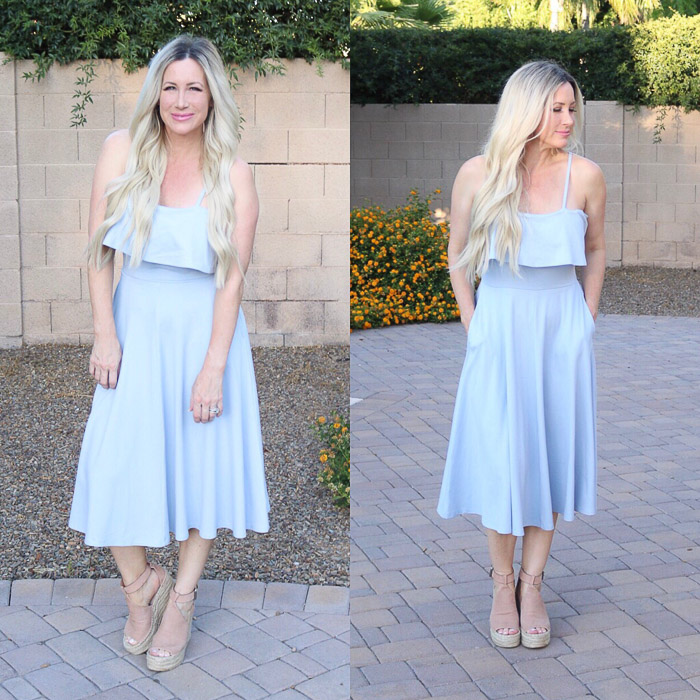 live love blank Instagram Roundup Favorite Fashion Design Beauty Mommyhood Leith Dress with pockets light blue Posts