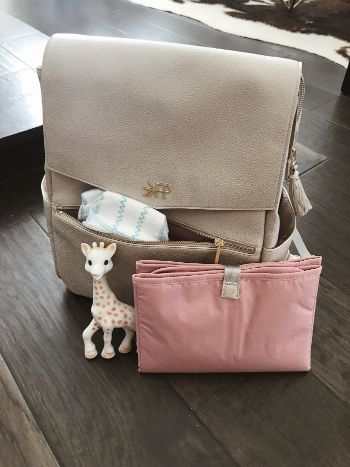 Live Love Blank Freshly Picked Stone Backpack Diaper Bag