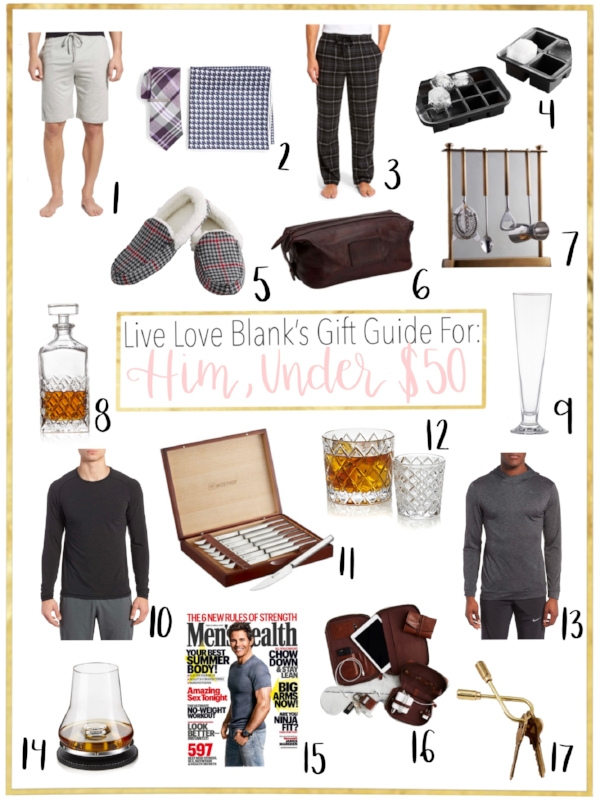 Live Love Blank, liveloveblank.com Gift Guide for Him Under $50, Gift Guide for the man in your life