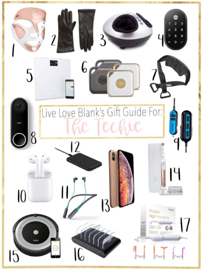 Live Love Blank liveloveblank.com Gift Guide for the techie in your life Holiday 2018