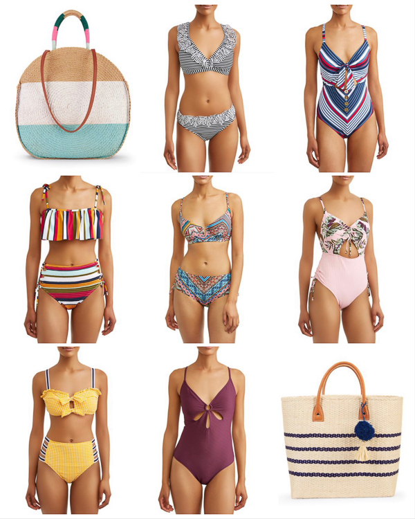 Liveloveblank.com, Live Love Blank fashion blogger, Weekly outfit recap, 5 favs, sales, best sellers, 5/25-31, 2019, style blogger, mom style, Scottsdale, Arizona, Outfit of the Day, OOTD Swimwear, Swimsuits, Under $50 Bikini and One Piece Walmart  Beach Bag