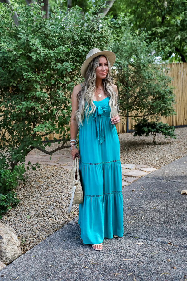 Boho Chic...Favorite Boho Bracelets...Major Sale Victoria Emerson, Live Love Blank, liveloveblank.com, turquoise maxi dress, boho style,  summer outfit, summer dress, vacation outfit, vacay style, stylist, style blogger, affordable fashion , jewelry, beaded bracelets, gold dainty jewelry