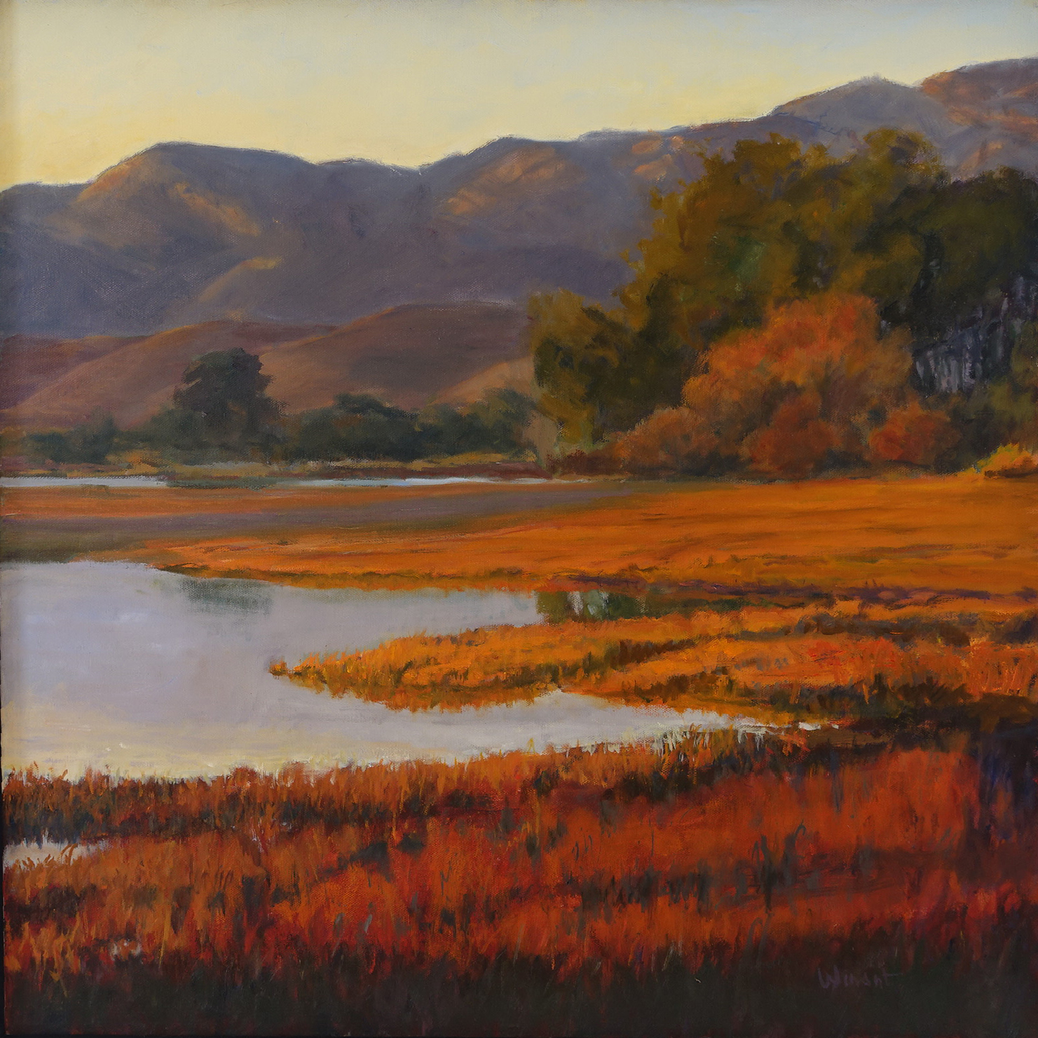Fall Colors at Devereux, 30 x 30 inches