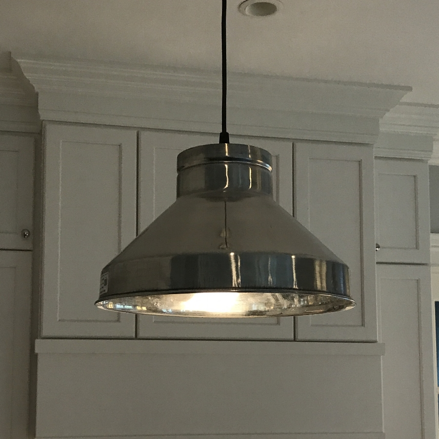 Industrial Farmhouse Pendant (Stainless Steel)