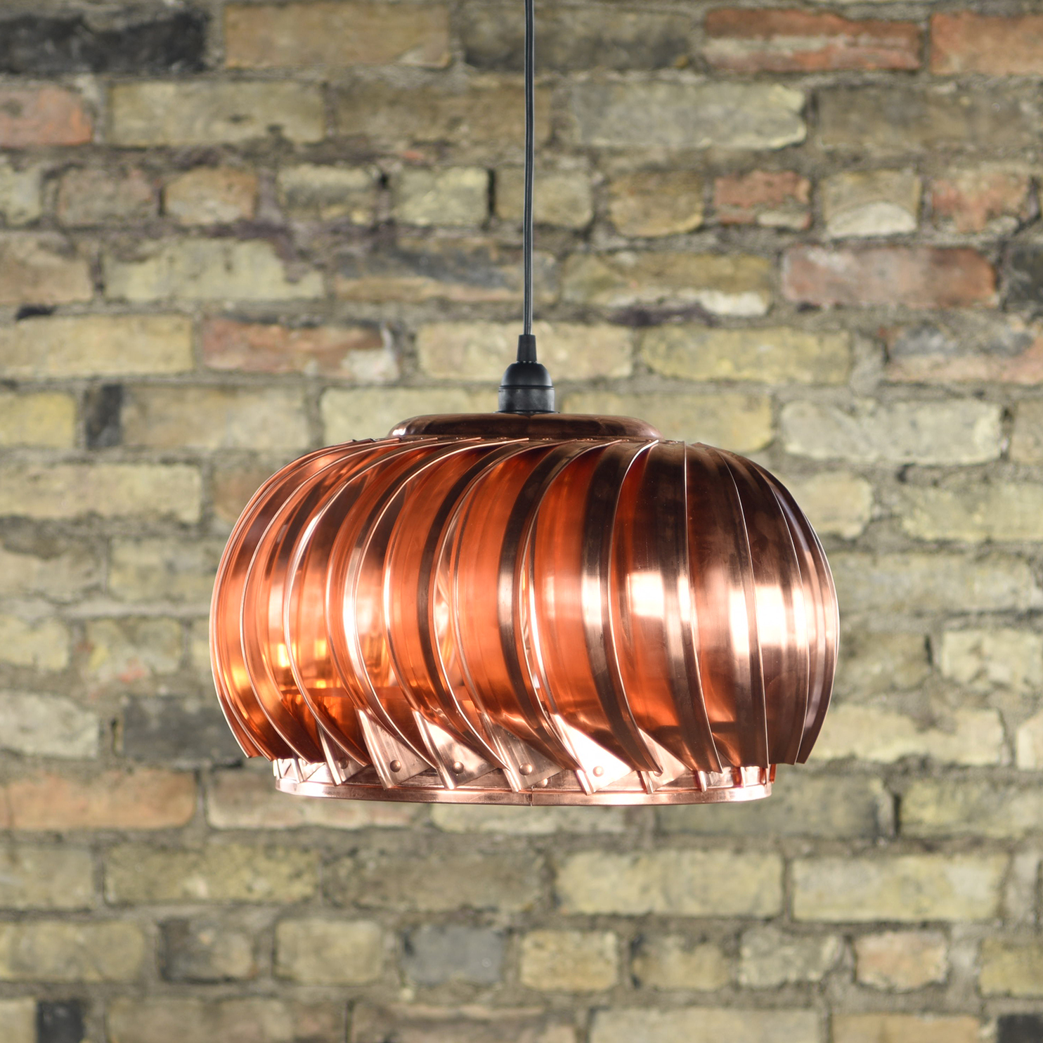 Copper Turbine Pendant