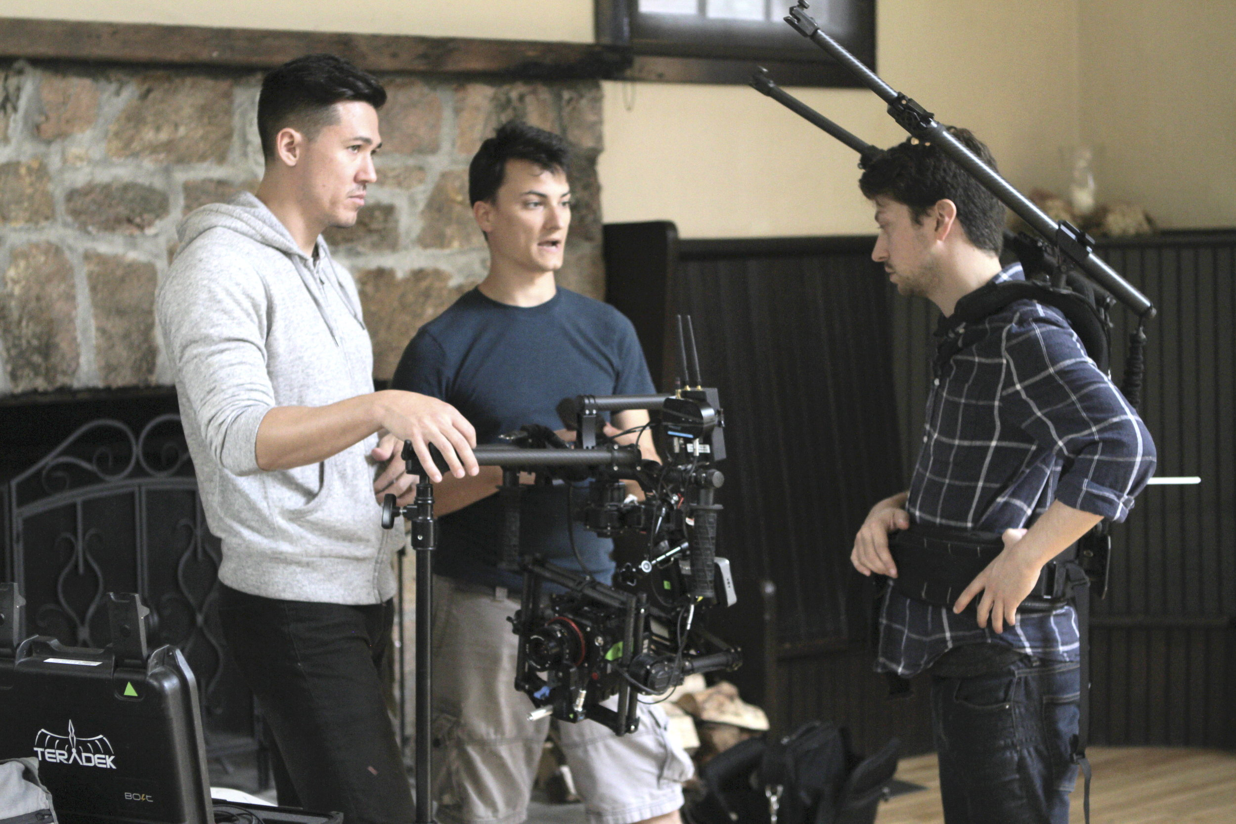 Camera Assistants Robert Cauble, Kevin Marshall and cinematographer Alexander Sablow discuss the shoot day.