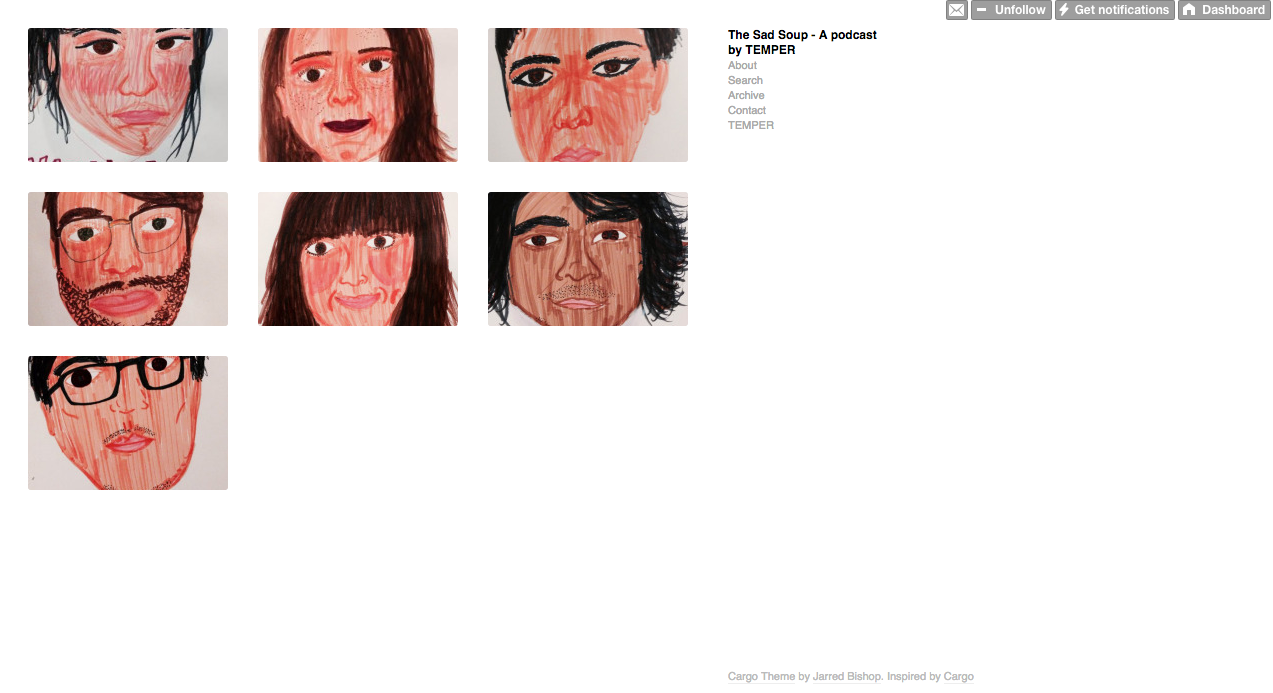 TheSadSoup.com website 2013-2015