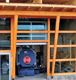 Biomass boiler heating unit by Fink Machine Inc., Enderby, BC