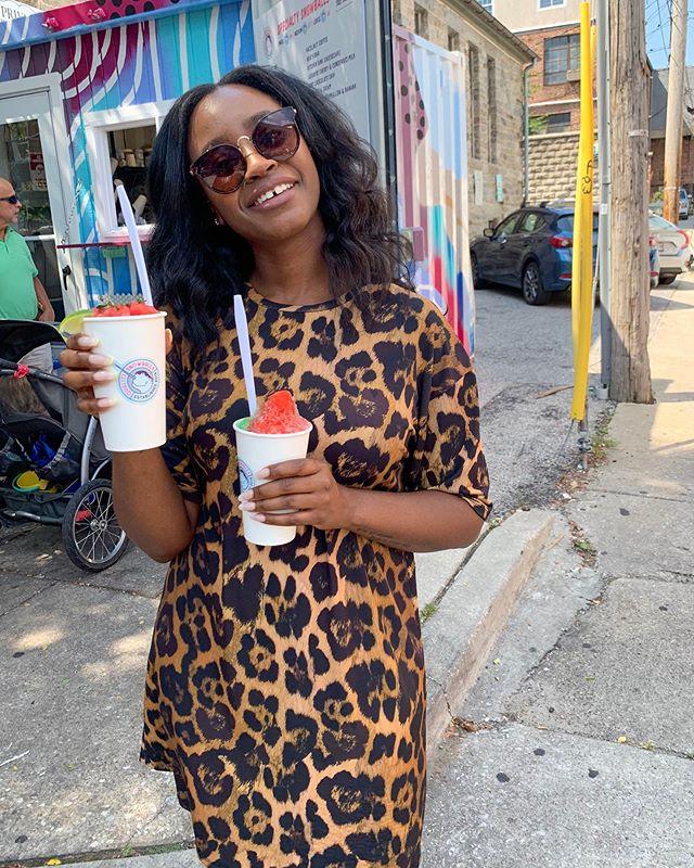 Double cup love • • #foodieatinbed • • • • • • • • • • • • • • • • • • • • #baltimore #summertime #mybmore #baltimoreblogger #rawr #snowballs #watermelon #shirtdress #sunday