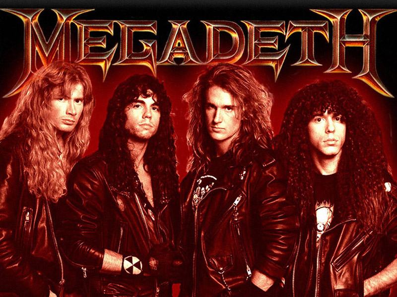 Marty with Megadeth in the 90s heyday.