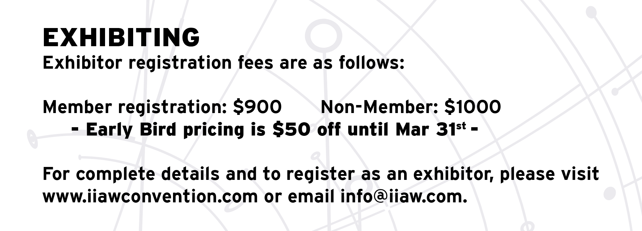 EARLY BIRD PRICING EXTENDED TO MARCH 31ST.