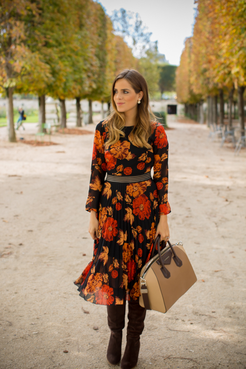 Topshop Dress , MICHAEL Michael Kors Boots , Givenchy Bag c/o Luisaviaroma (also love  this similar one and  this one ), Dior Earrings (similar  here and  here )