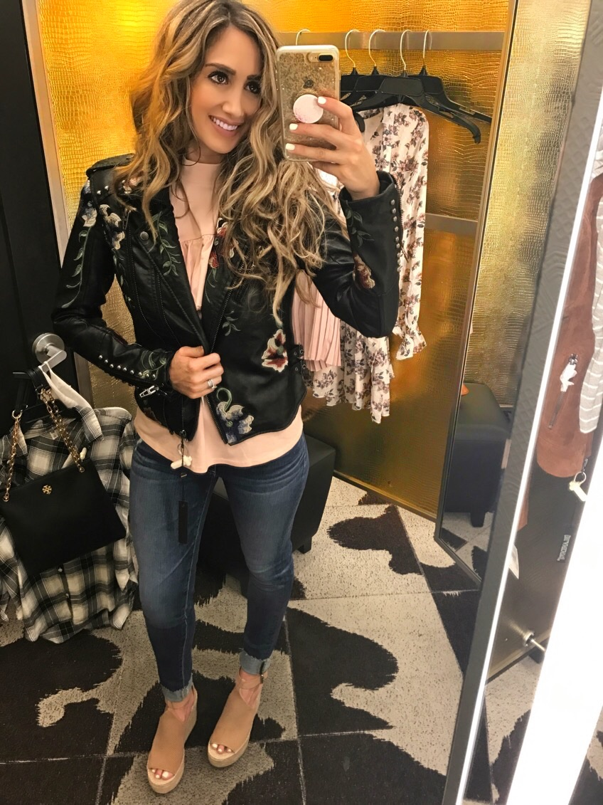 Jacket Medium, Top S, Jeans 26,Shoes (not included on sale) 7.5,Bag one size fits all