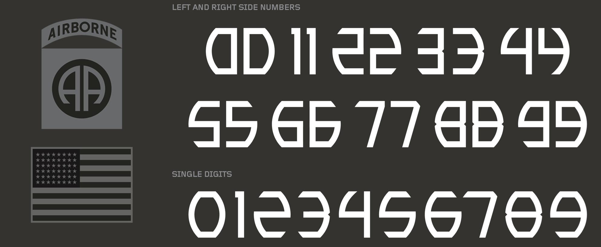 2016 Army Uniforms Font