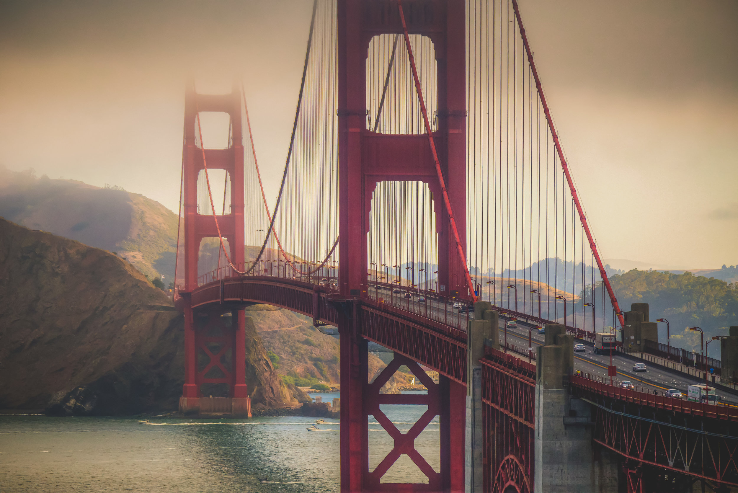 A collection of images taken in the early morning light in San Francisco, California.