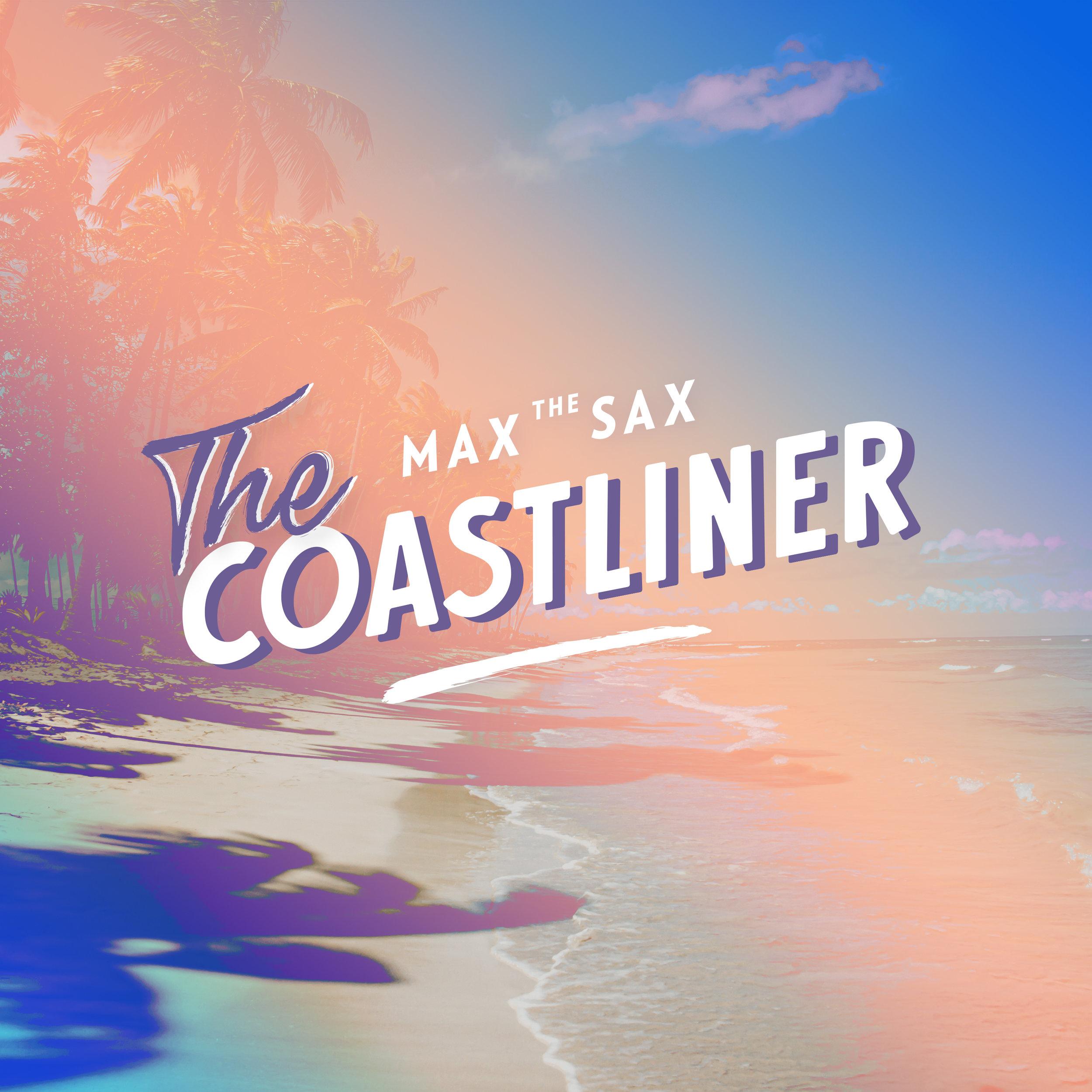 MAX THE SAX - THE COASTLINER COVER DESIGN