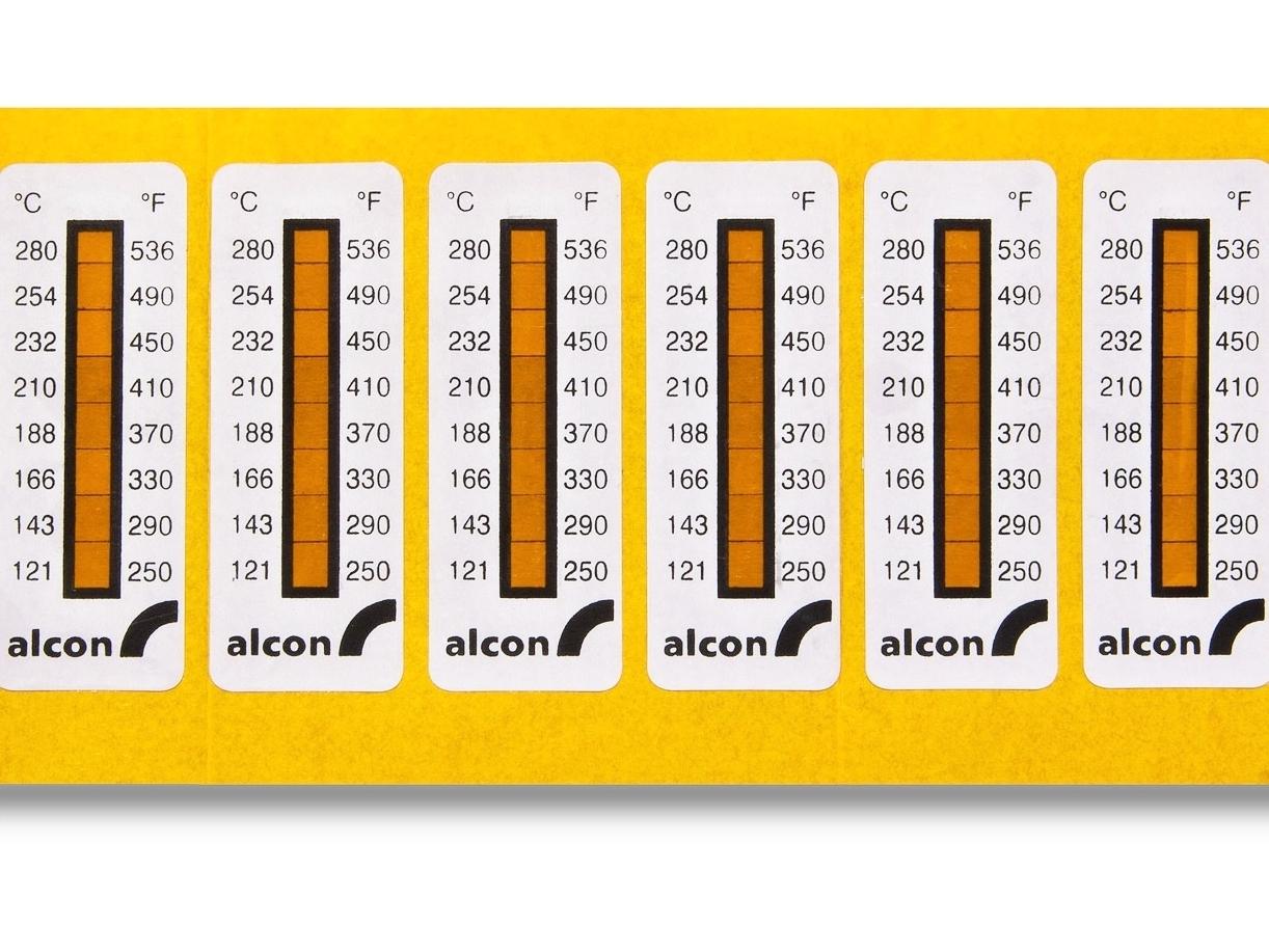 Alcon caliper temperature stickers.Photo Courtesy: Kristina Tovar