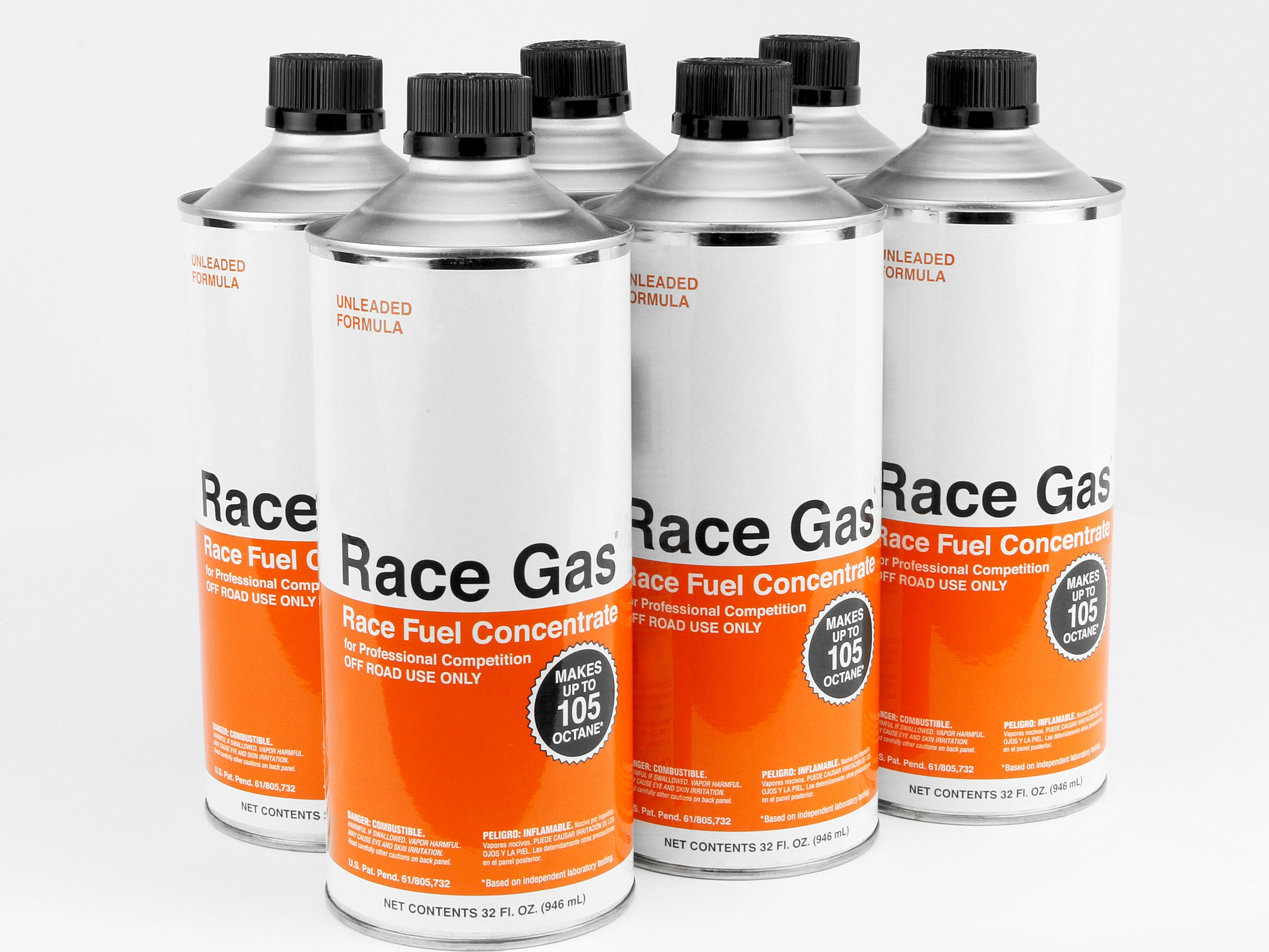 RACE GAS™ - RACE FUEL CONCENTRATE. TRANSFORMS ANY PUMP GASOLINE FROM GAS STATION INTO RACE FUEL