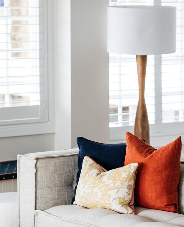 Custom cushions seen here in apartment three at @theboathousehotelpatonga  #theboathousegroup #theboathousehome #custommade #customfabrics #homewares