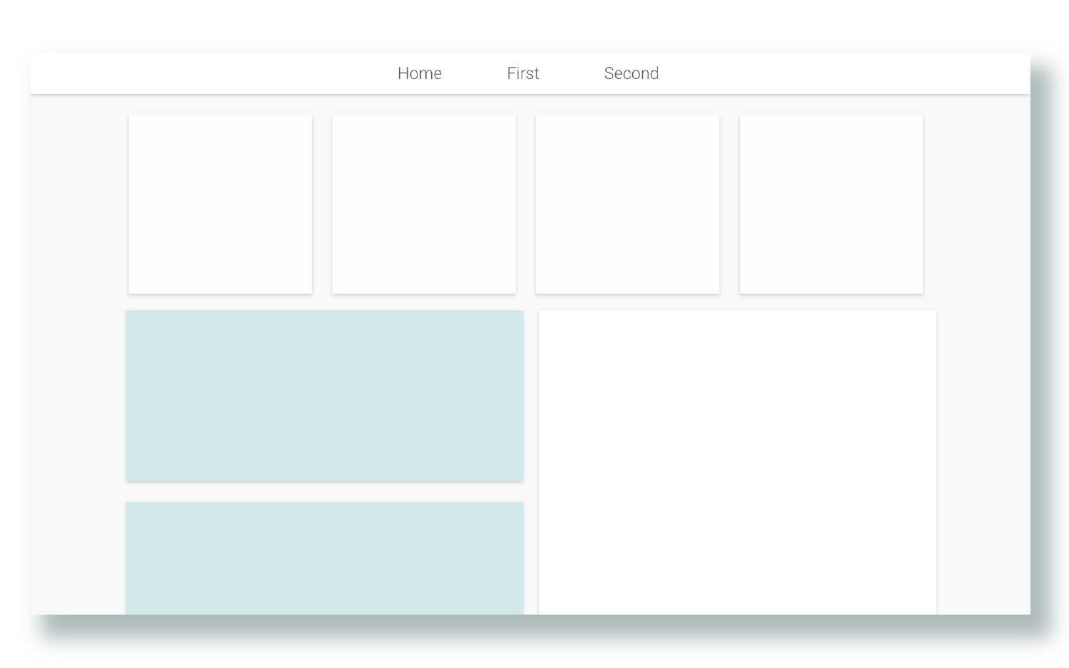 Dashboard  Tiled landing page with a high level view of most important information.