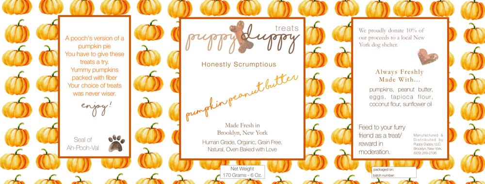 Pumpkin Peanut Butter Label