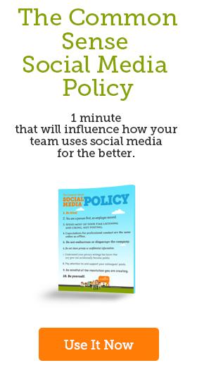 The Common Sense Social Media Policy