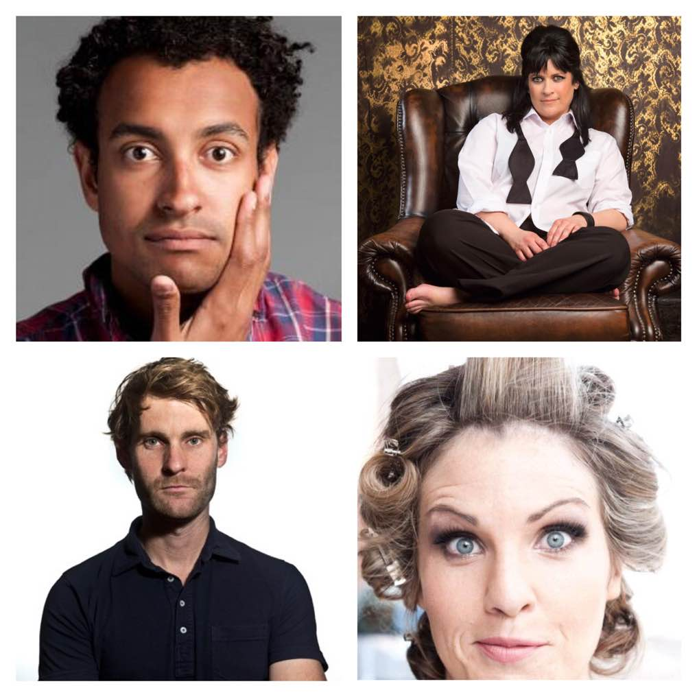 (Clockwise from top left) Matt Okine (Triple J), Rebecca De Unamuno, Luke Heggie (Best show Syd Comedy Fest) & Nikki Britton (Best Newcomer . Just four of the many brilliant acts making up our Christmas line ups.