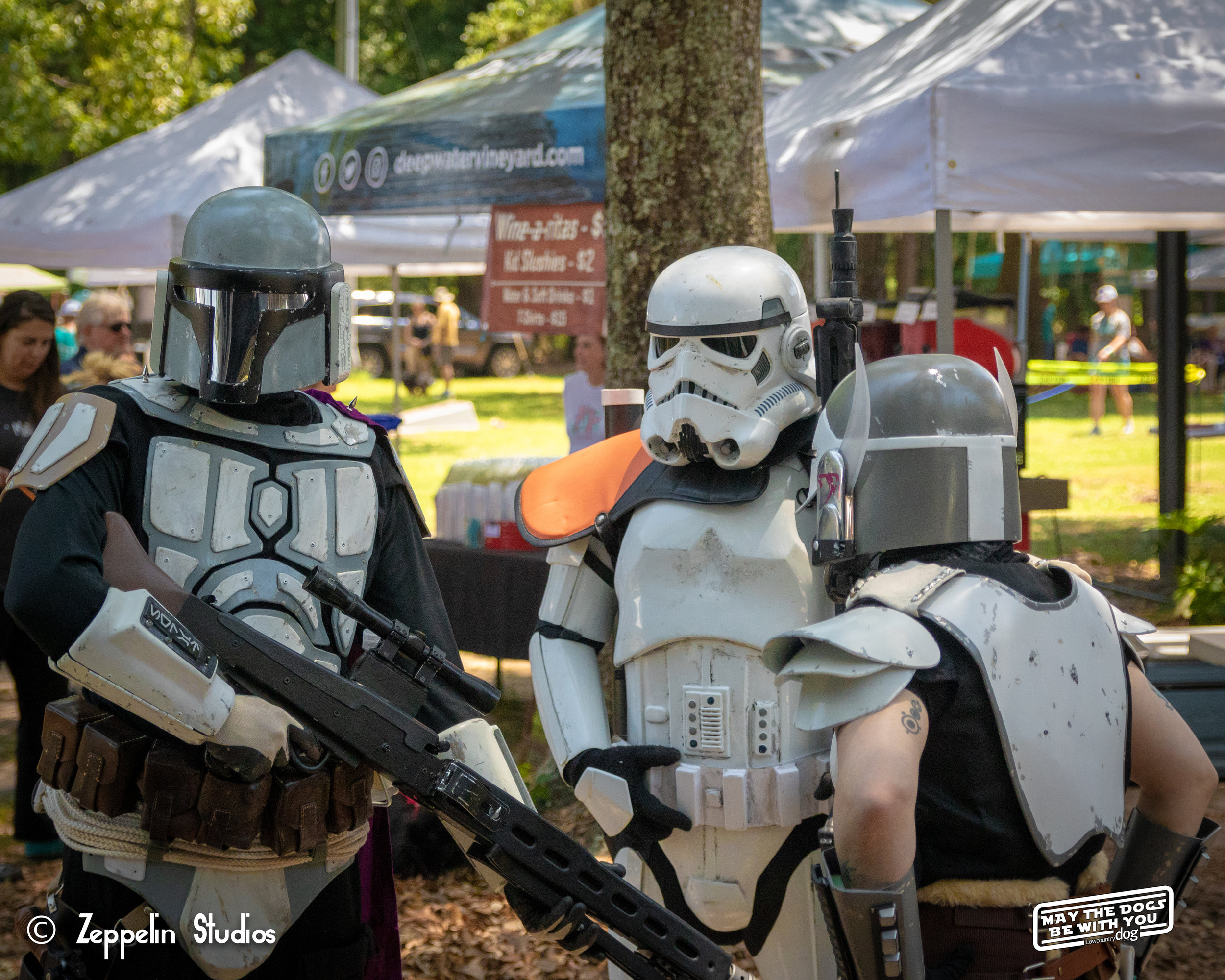 Thanks to the Carolina Garrison from the 501st Legion for coming out.