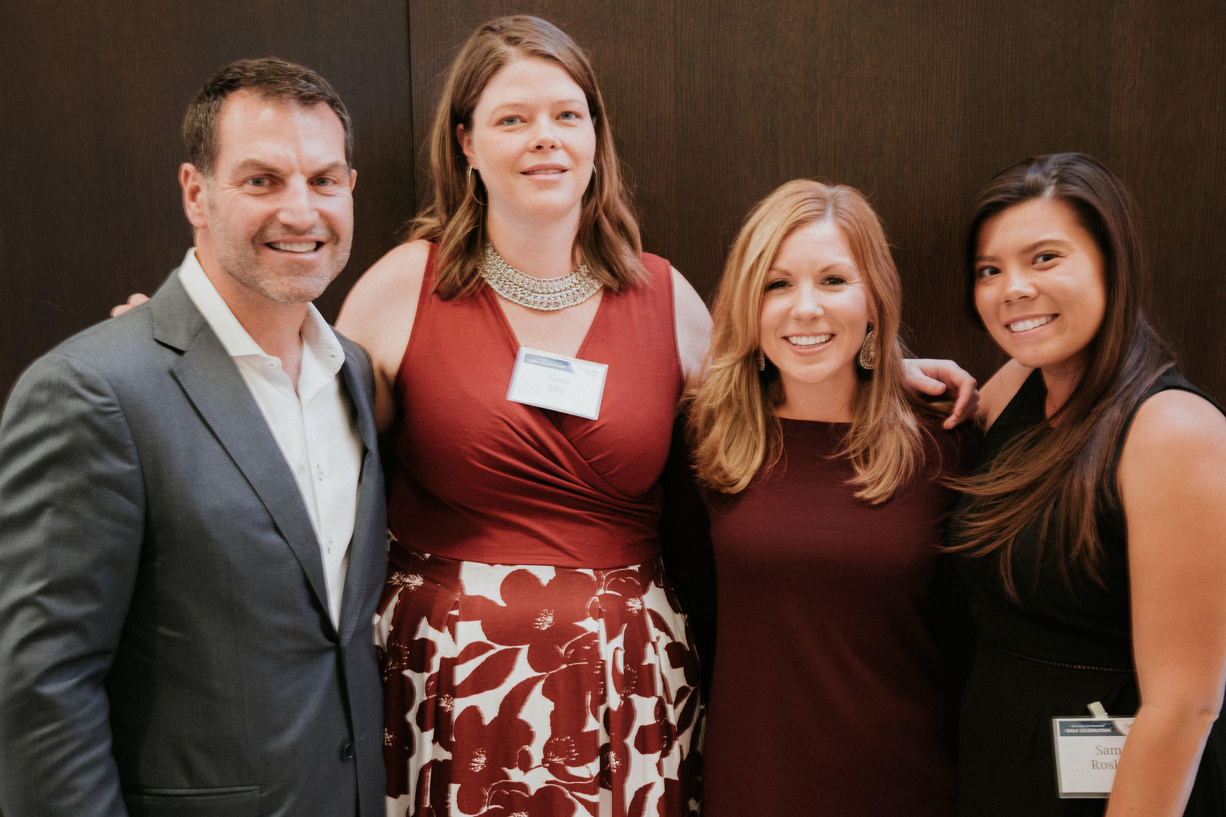 Hopecam's Founder Len Forkas with the Hopecam Team: Sara Dia, Lauren Priestas and Sam Rosko