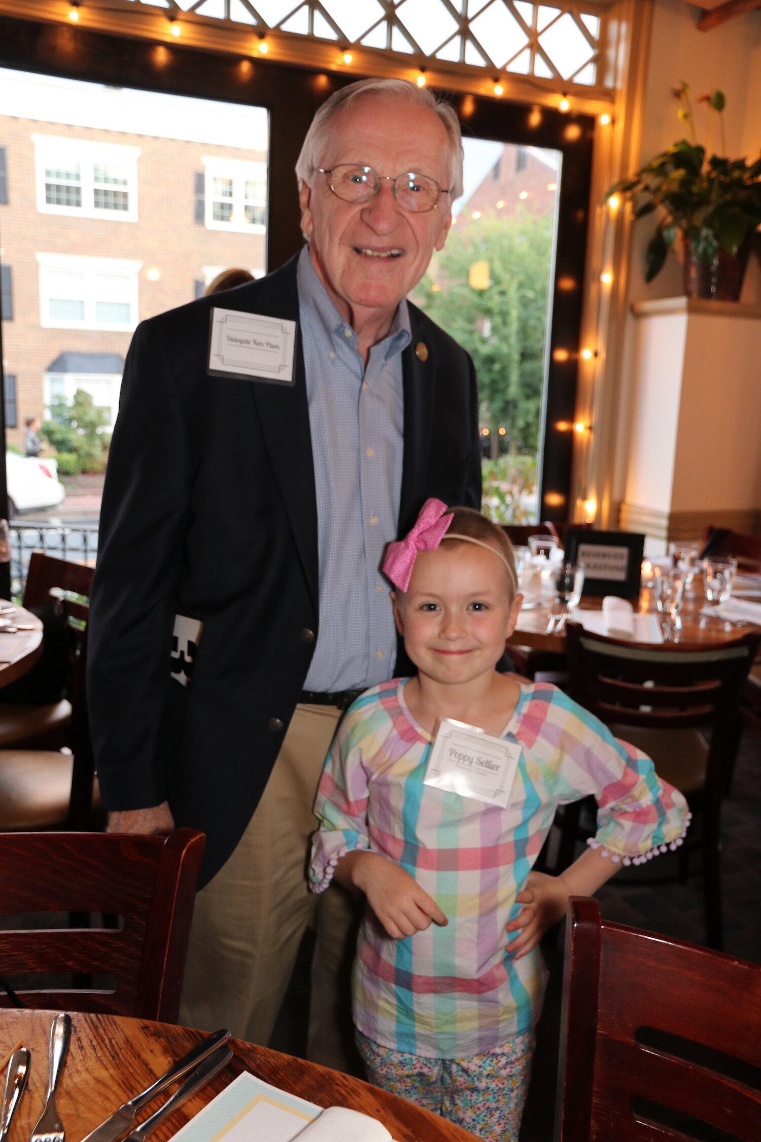 Virginia Delegate Kenneth R. Plum and Hopecam Child Poppy