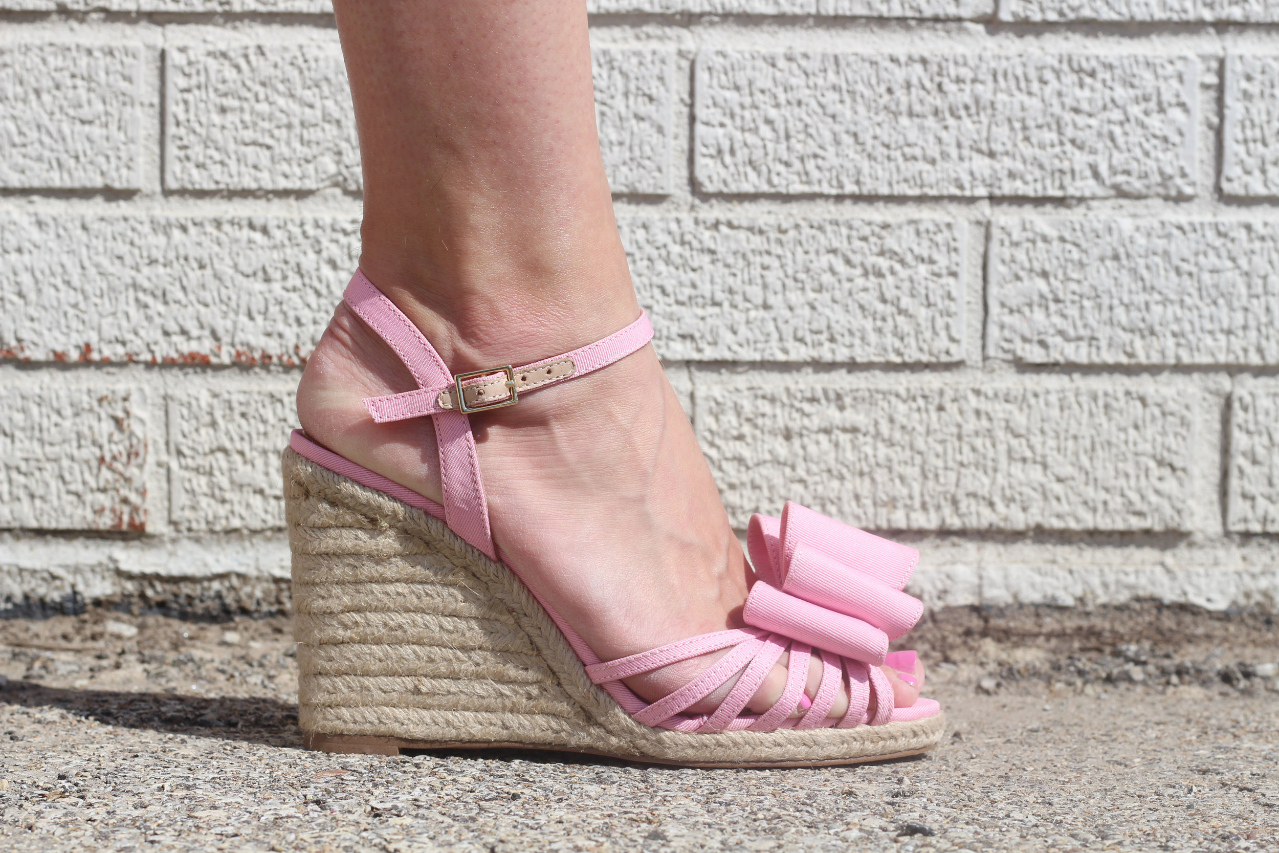Kate Spade Pink Bow Shoes
