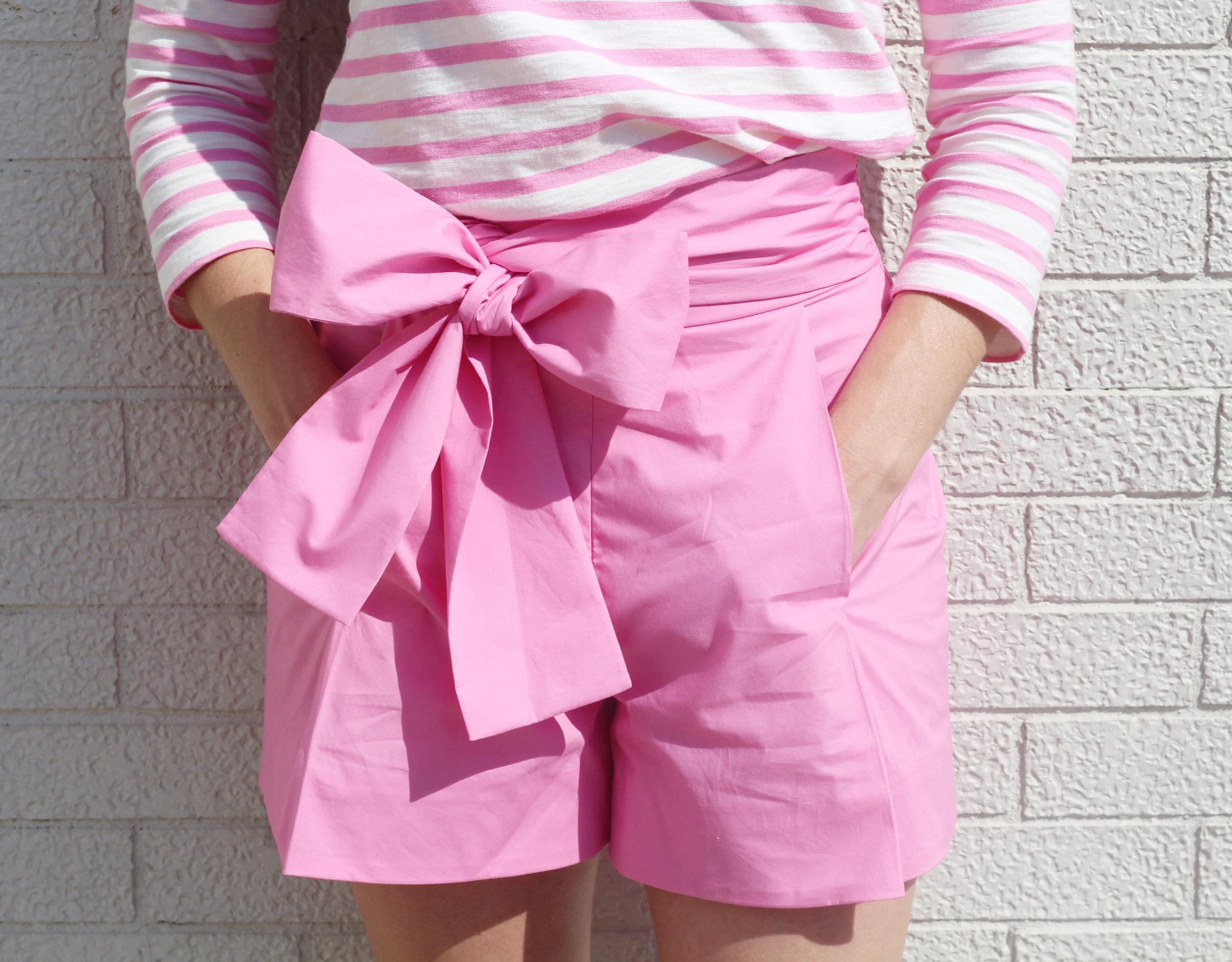 J. Crew Pink Bow Shorts