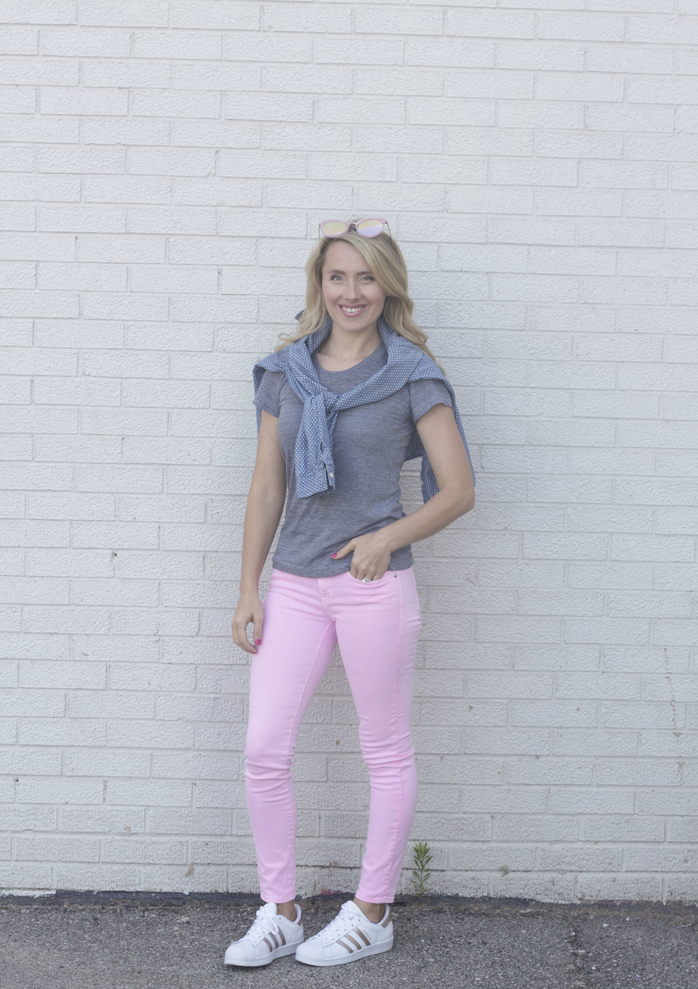 Sporty Pink Jeans J.Crew and Old Navy, So Dressed Up