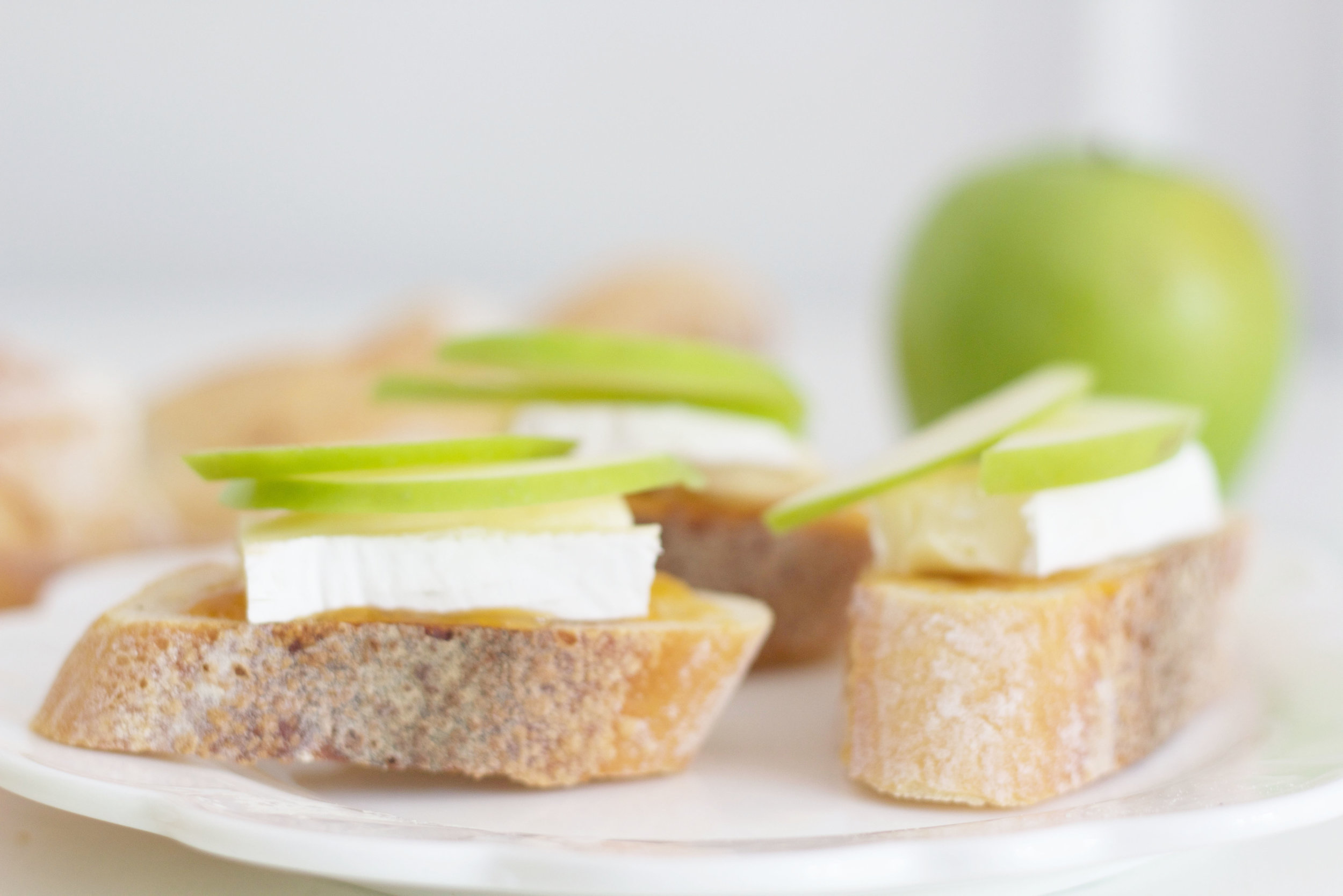 Apple and Brie Bruschetta, So Dressed Up