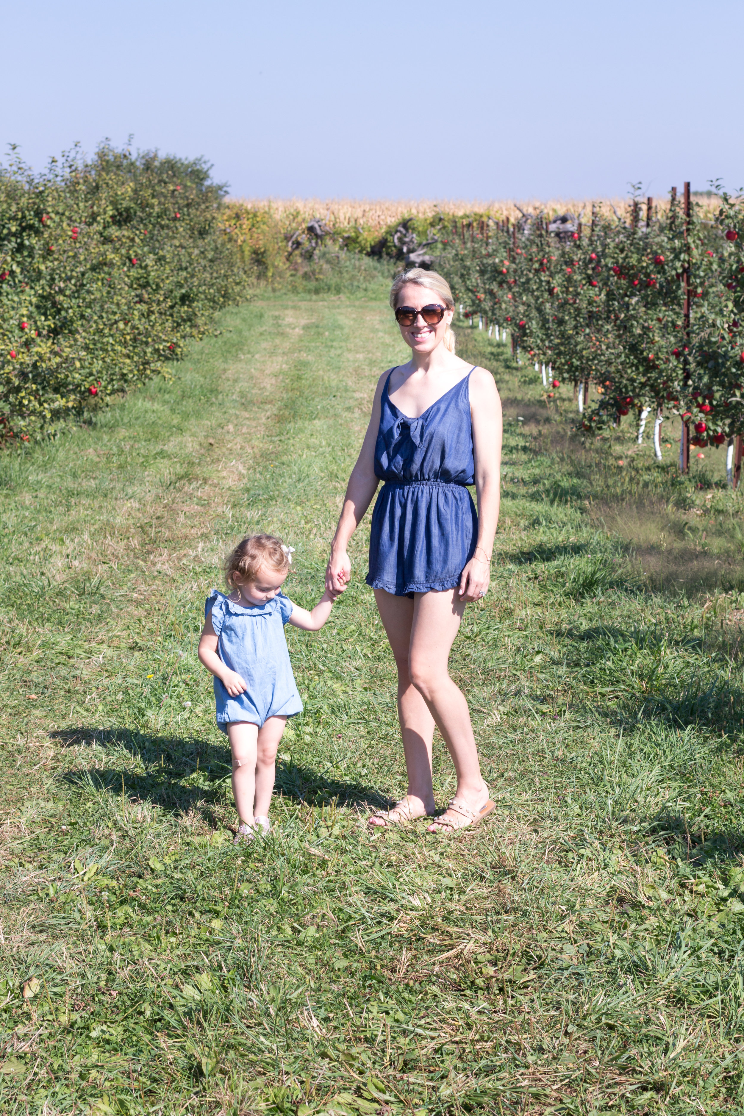 Mother Daughter So Dressed Up Apple Picking