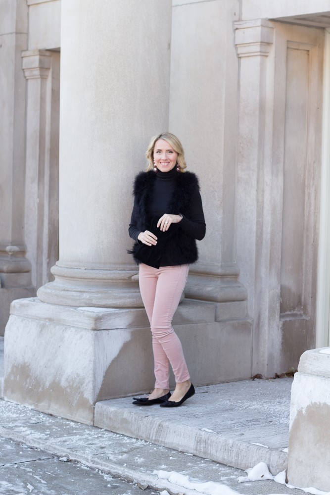 So Dressed Up Pink and Black Outfit (7 of 15).jpg