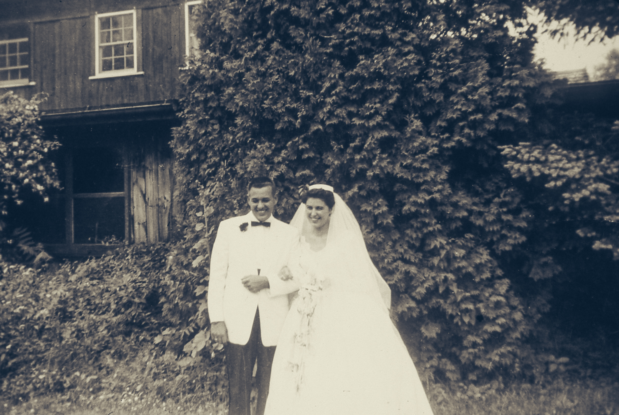 I found this Kodachrome slide of my mom's parent's wedding day hidden away in a closet in a locked box (wasn't that hard to break in). I love finding goldmines of family history.
