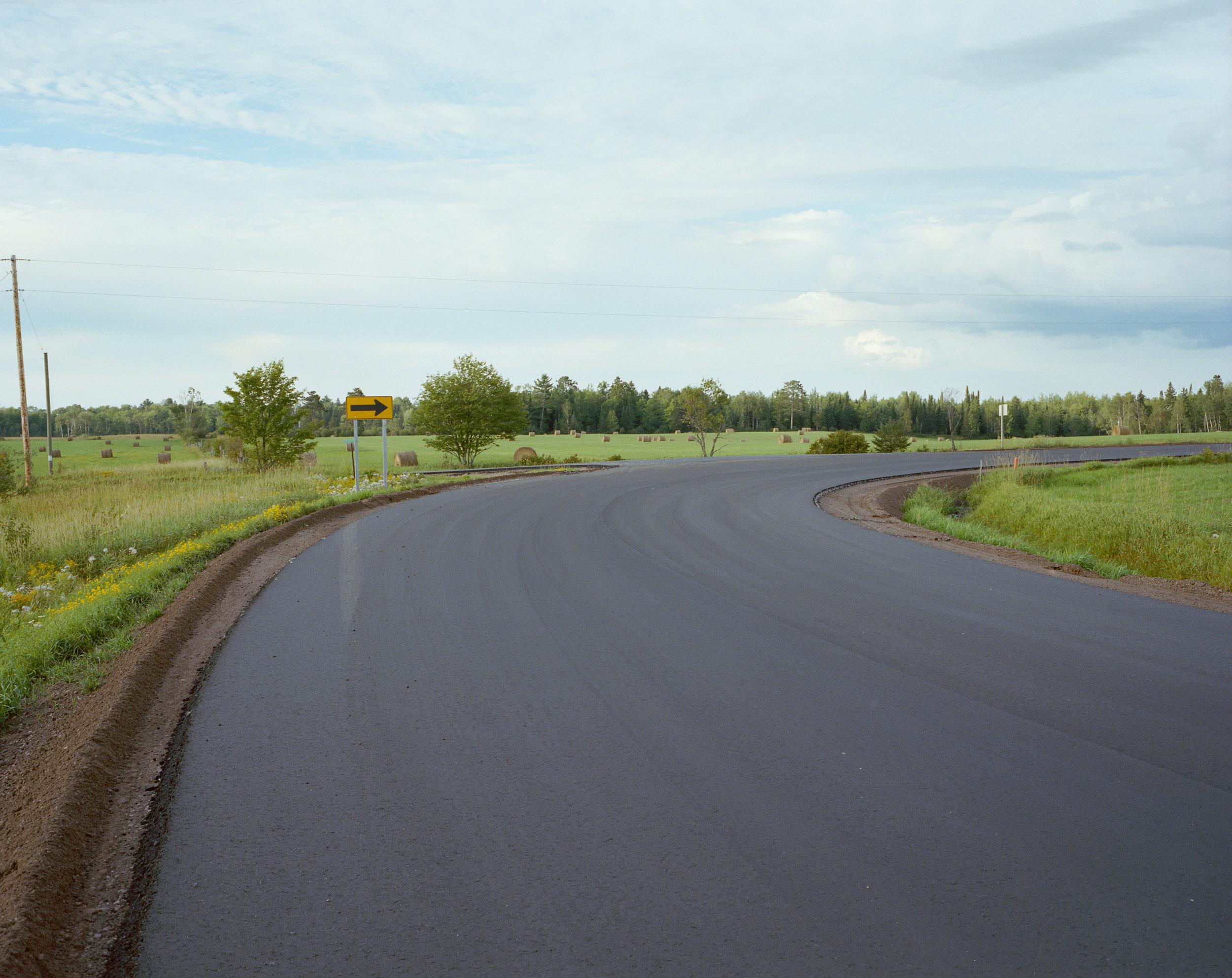 Steve's corner on Kern Lake Road, freshly paved for the first time