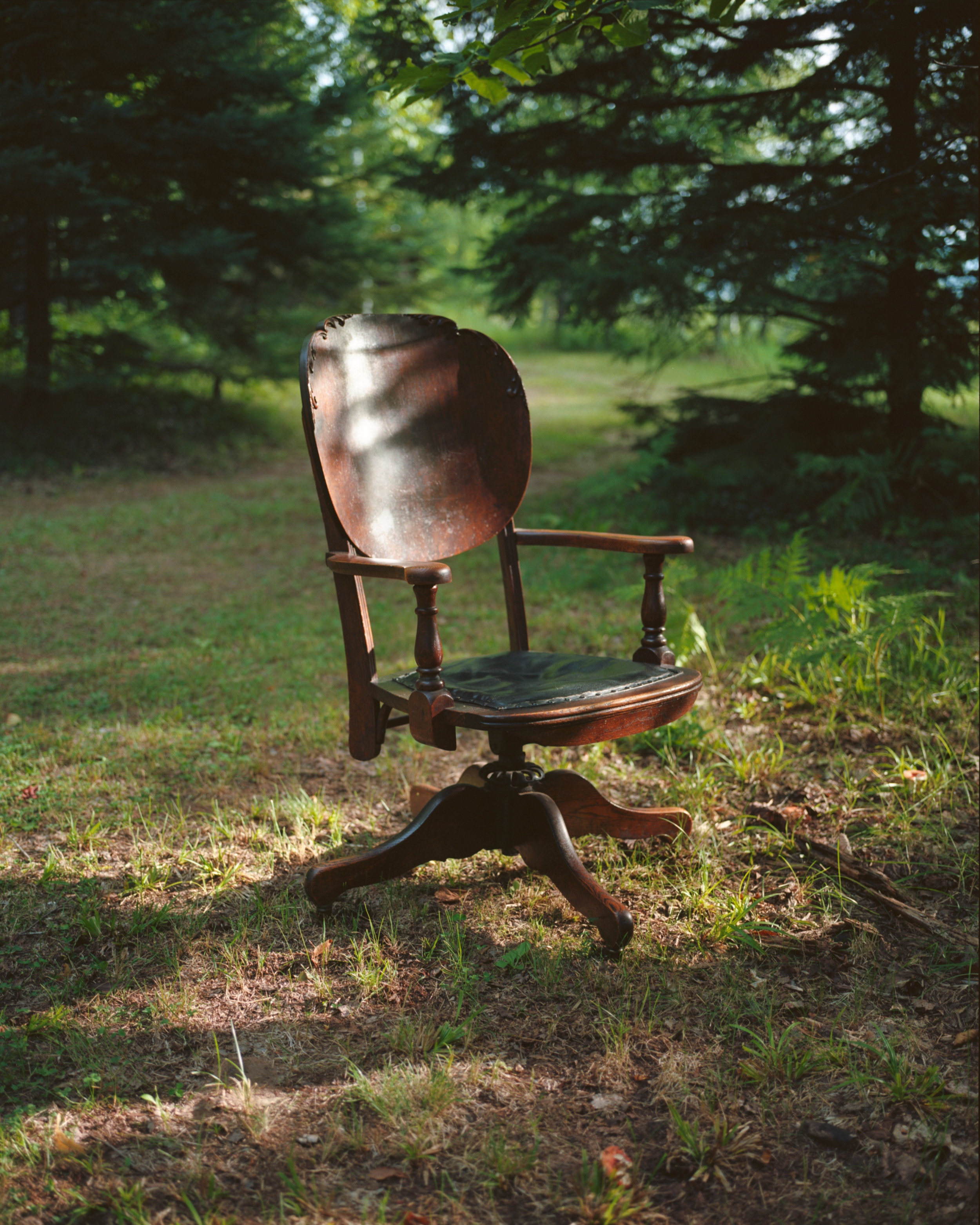 My great-great-great-grandfather Abe Lincoln Biglow's office chair