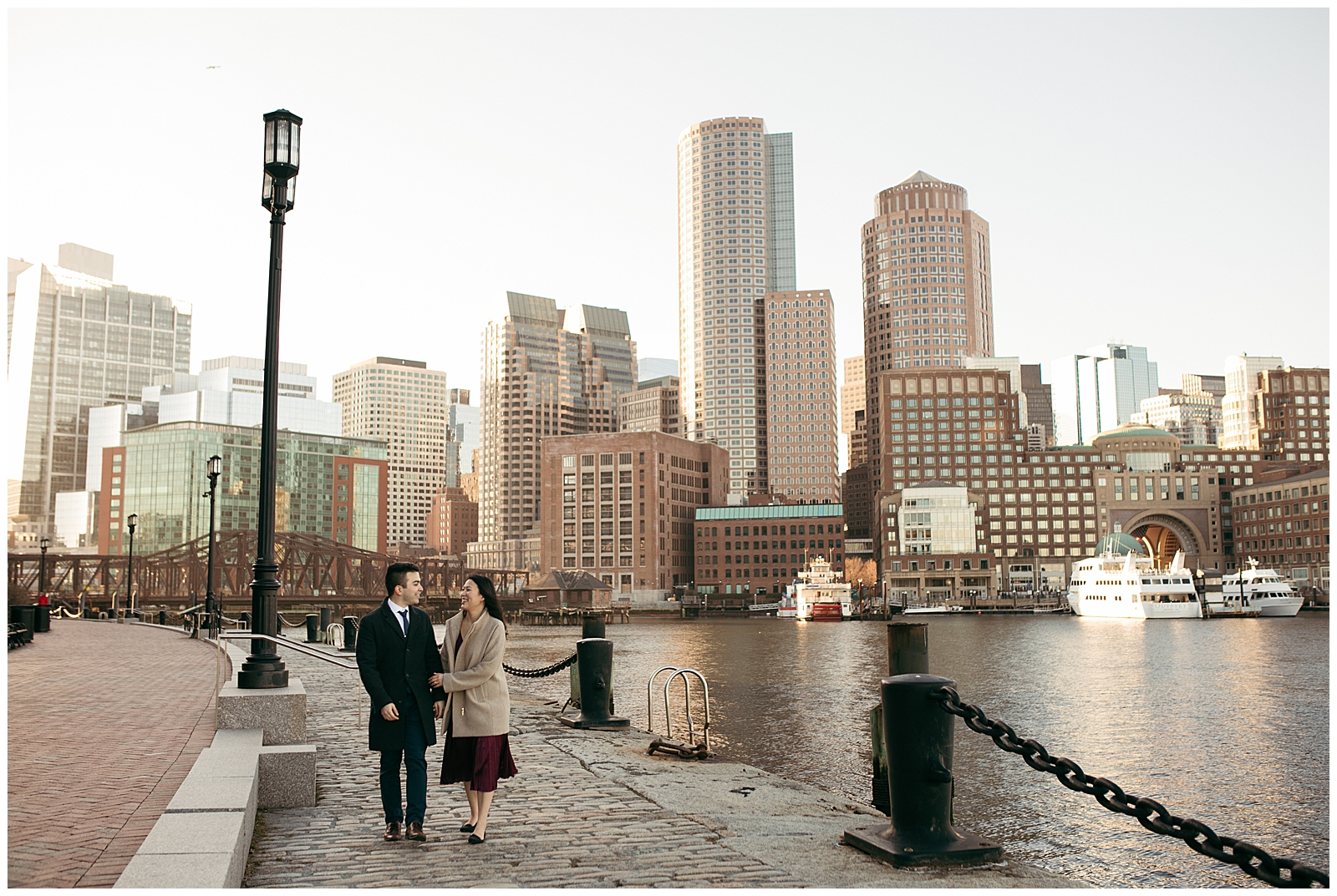 Boston seaport engagement photos