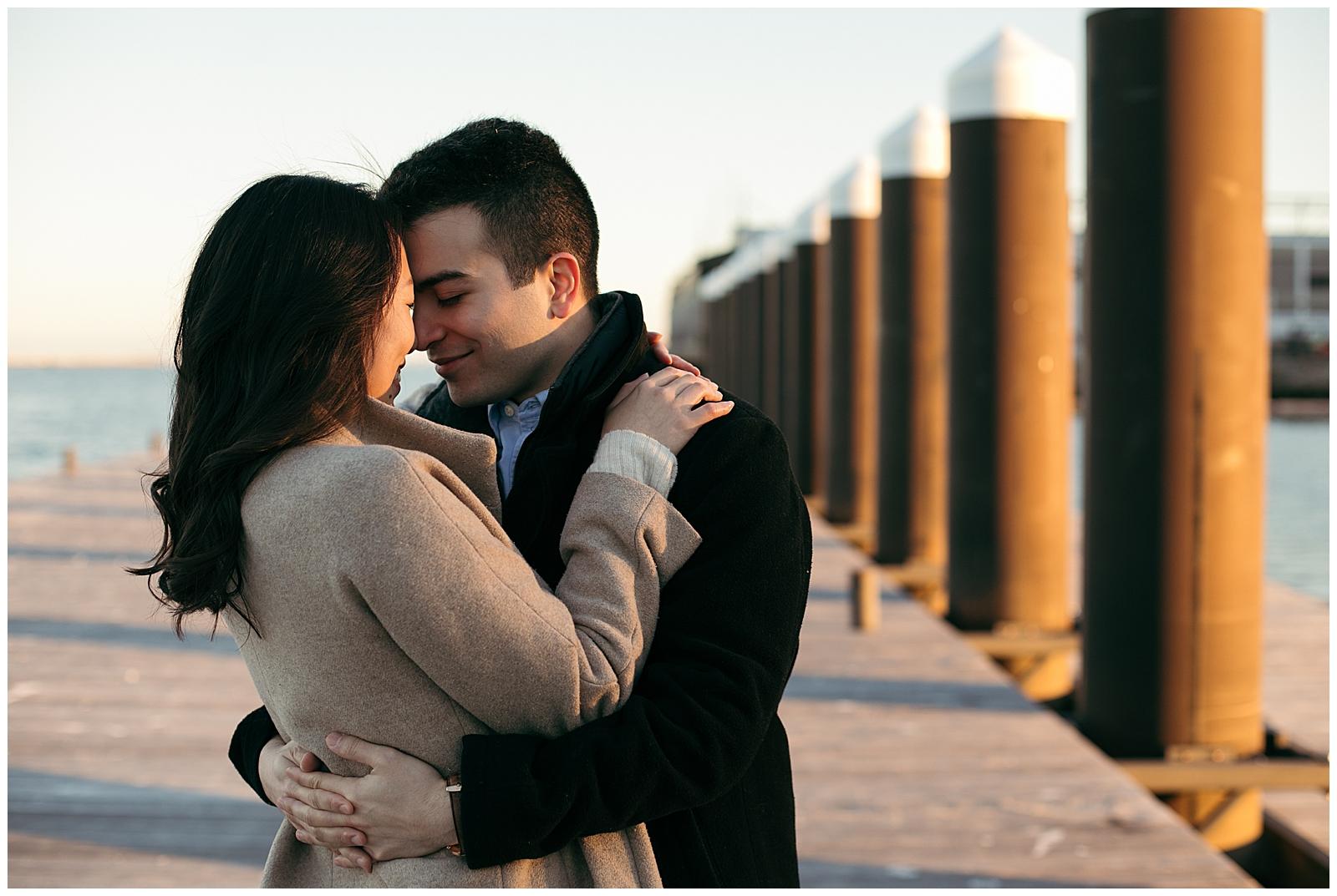Boston waterfront engagement