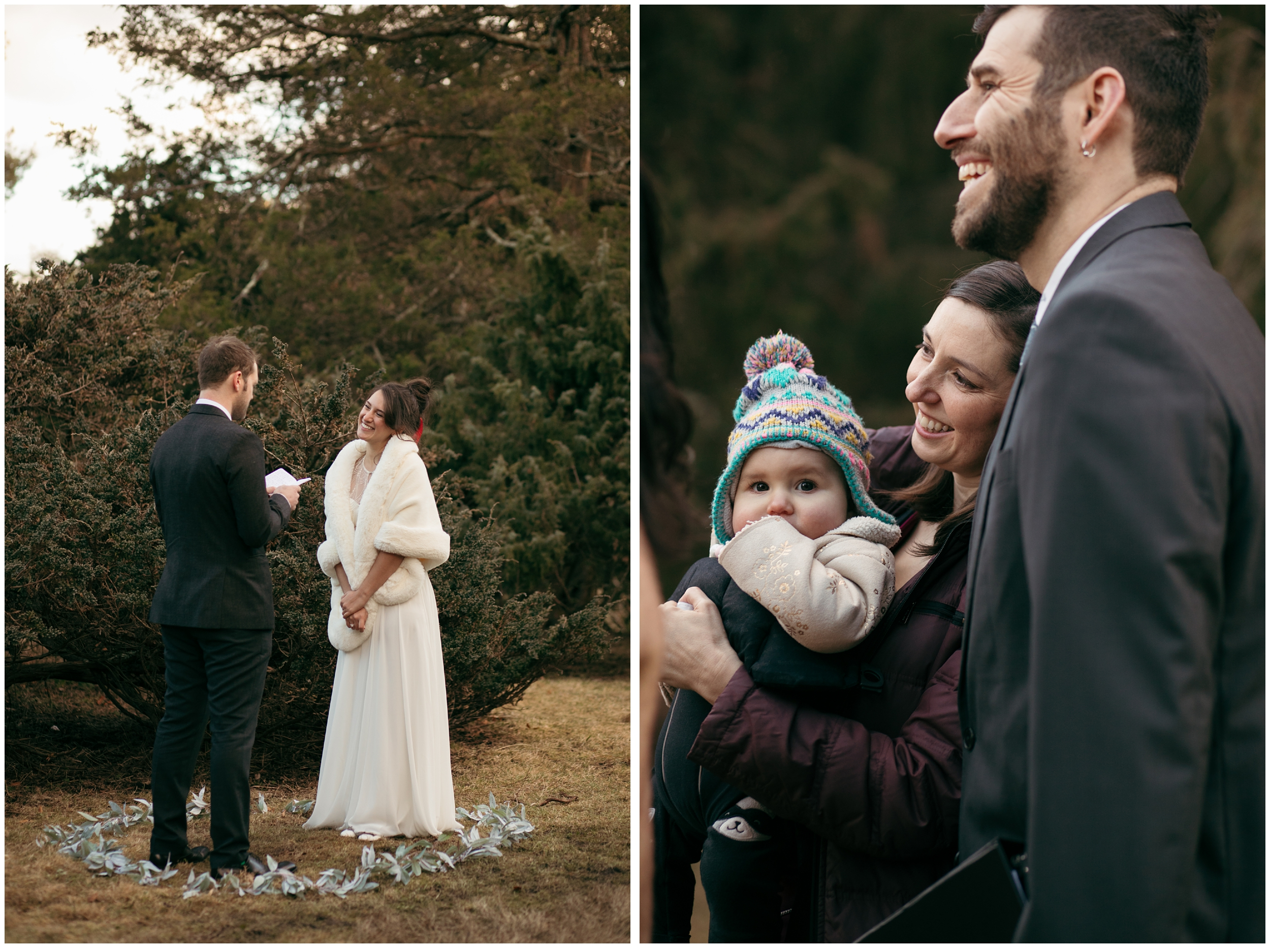 outdoor winter wedding Boston